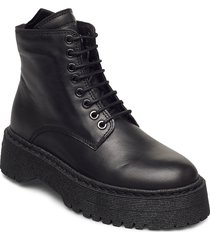 command lace up boot shoes boots ankle boots ankle boot - flat svart royal republiq