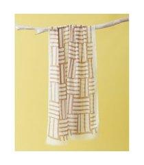 lenço estampado - lenço bandon cor: cáqui - tamanho: único
