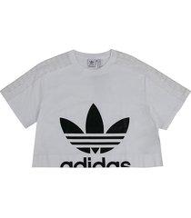 camiseta blanco-negro adidas originals tee