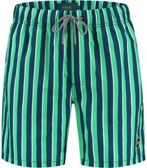 shiwi heren zwembroek midi stripe poseidon blue