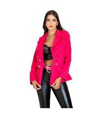 blazer acinturado feminino alfataria manga longa elegante moderno chique top venda rosa
