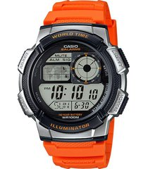 reloj deportivo ae-1000w-4b casio- naranja