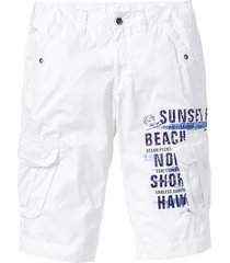 bermuda cargo lungo loose fit (bianco) - bpc bonprix collection