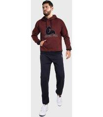 sudadera para hombre conjunto hoodie vinotinto y azul arctic fox