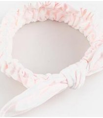 pink tie dye spa headband