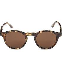 bottega veneta women's 49mm round sunglasses - havana