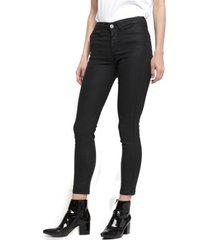 jeans skinny cuerina elena negro five