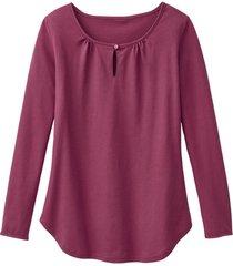 shirt met lange mouw en druppelhals, wild berry 36