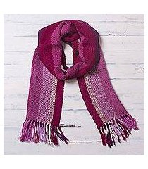 100% alpaca scarf, 'chevron sorbet' (peru)