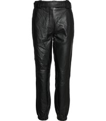 indie mw leather trousers leather leggings/broek zwart second female