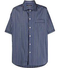 balenciaga vertical stripe-print shirt