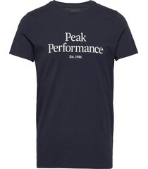 m original tee t-shirts short-sleeved blå peak performance