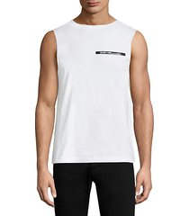 raw edge muscle tee
