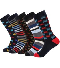 mio marino men's groovy designer dress socks pack of 5