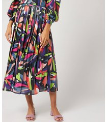 olivia rubin women's esme skirt - abstract floral - us 6/uk 10