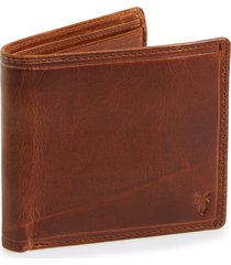 men's frye 'logan' leather billfold wallet - brown (online only)