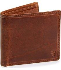 frye 'logan' leather billfold wallet in cognac at nordstrom