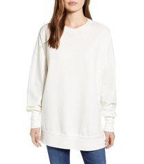 women's caslon side slit cotton sweatshirt