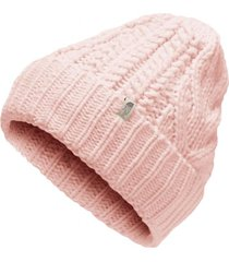 gorro cable minna rosado the north face