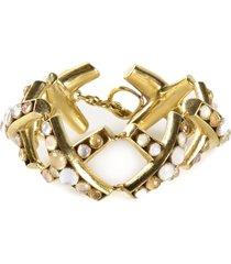 vaubel round stone bracelet - multicolour