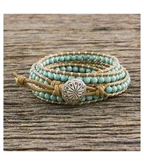 serpentine wrap bracelet, 'thai mint' (thailand)