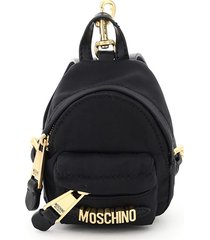 moschino micro backpack with chain and moschino lettering