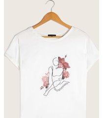 camiseta blanca blanco l