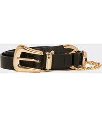 motivi cintura con catena dorata in similpelle donna nero