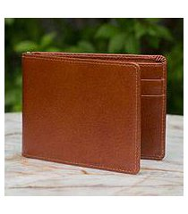 men's leather wallet, 'credit to brown' (thailand)