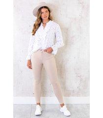 skinny high waist jeans beige