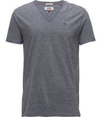 tjm original triblend v neck tee t-shirts short-sleeved grå tommy jeans