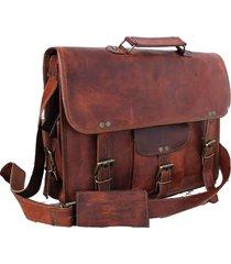 15inches women real leather messenger bag for laptop briefcase satchel shoulder