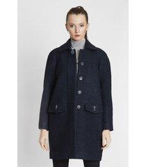 płaszcz z wełny boucle lapis lazuli