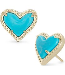 kendra scott stone heart stud earrings