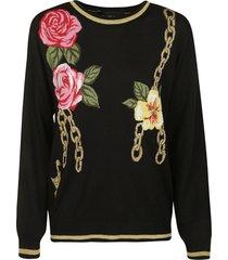 moschino rose chain sweater