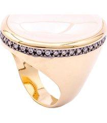 anel fane's quartzo branco