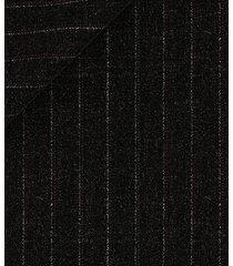 pantaloni da uomo su misura, reda, twill grigio scuro rigato 130's, quattro stagioni   lanieri