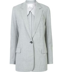 3.1 phillip lim chambray single-breasted blazer - grey