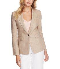 1.state one-button linen blazer