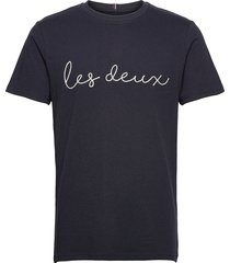 grand t-shirt t-shirts short-sleeved blauw les deux