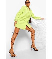 oversized boxy blazer jurk, lime