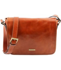 tuscany leather tl141301 tl messenger - borsa a tracolla 1 scomparto - misura media miele