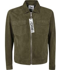 drome leather zipped jacket