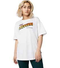 converse camiseta greetings oversized white