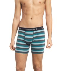 men's smartwool 150 merino wool blend boxer briefs, size x-large - blue