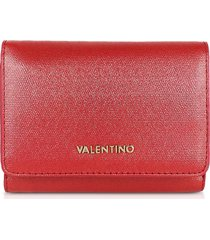 valentino by mario valentino designer wallets, marilyn metallic eco leather small flap wallet