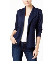 style & co petite draped blazer, created for macy's