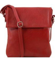 tuscany leather tl141511 morgan - borsa a tracolla in pelle rosso