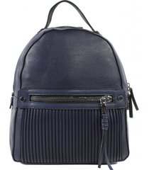 mochila bolsillo acolchado azul mailea