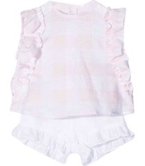 il gufo top and shorts set with print